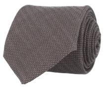 Krawatte Grau Fischgrat