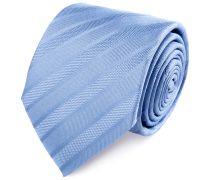 Seiden Krawatte Hellblau Gestreift