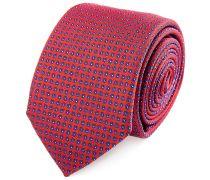Seiden Krawatte Rot Marine Gepunktet