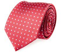 Krawatte Seide Rot Polka Dot