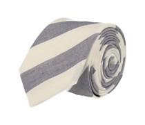 Schmale Krawatte Blau Weiss Gestreift
