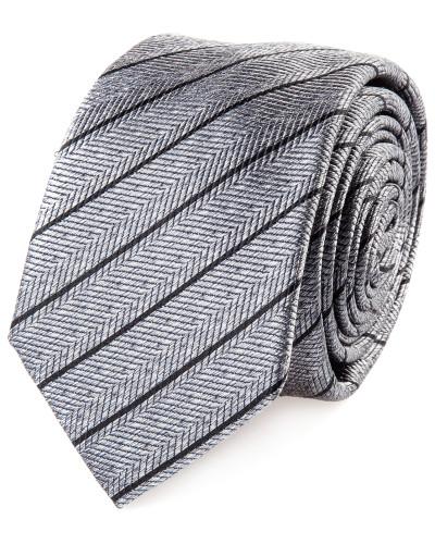 Krawatte Egolux Grau Gestreift Fischgrat