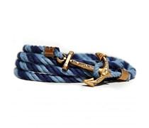 Mahogany Dock Ankerarmband Marineblau-Hellblau