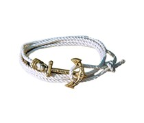 Mooring Hitch Anker Armband Weiss