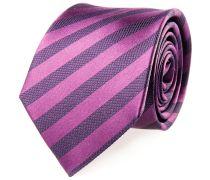 Krawatte Seide Pink Gestreift