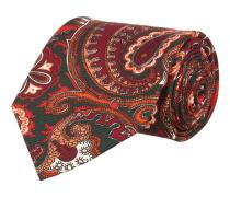 Krawatte Rot Grün Paisley