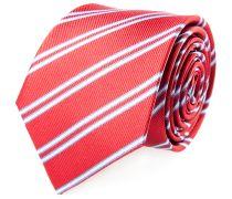 Krawatte Rot Blau Weiss Gestreift
