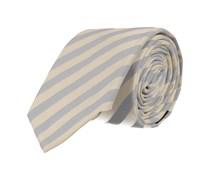 Schmale Krawatte Hellblau Weiss Gestreift