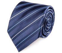 Seiden Krawatte Marine Blau Weiss Gestreift