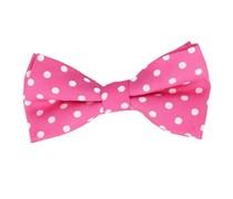 Fliege Polka Dot Pink