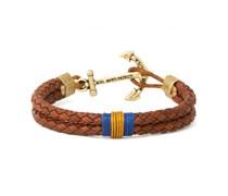 Barnwood Crisp Leder Anker Armband Braun