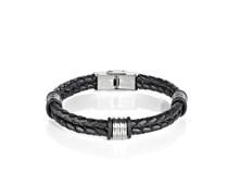 Flecht Armband SLI36 Schwarz
