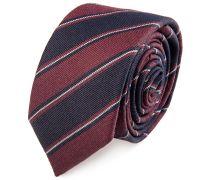 Krawatte Schmal Gestreift Marine Bordeaux