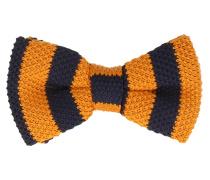Fliege Orange Blau Strickoptik