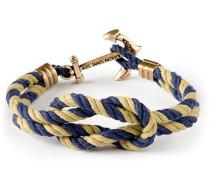 Khaki Sailor Anker Knotenarmband Gold-Marine