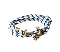 The Yacht Knot Anker Armband Blau Weiss