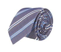 Schmale Krawatte Marineblau Gestreift