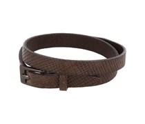 Premium Wristband Lederarmband Rauten Braun