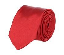 Extra Schmale Krawatte Kirschrot