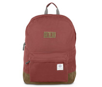 Rucksack Memmo Burgundy & Brown Suede