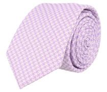 Krawatte Lila Weiss