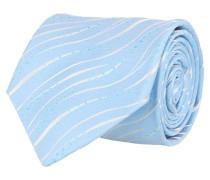 Krawatte Blau Weiss Wellenmuster