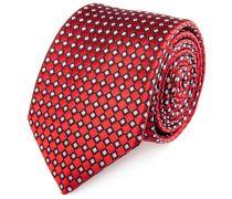 Seiden Krawatte Rot Rauten
