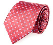 Krawatte Seide Rot Blau Karo