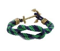 Lenny Mooring Ankerarmband Marineblau-Grün