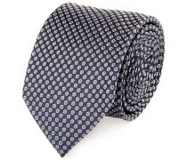 Krawatte Seide Marine Gepunktet