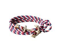 US Sail Anker Armband Blau Weiss Rot