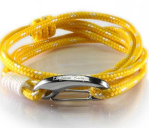Armband Lanyard Wrap Yellow & White Polka
