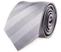 Krawatte Seide Grau Gestreift Fischgrat
