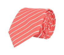 Seiden Krawatte Orange Gestreift