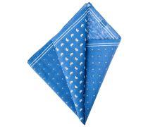 Einstecktuch Tropfen & Punkte Blau