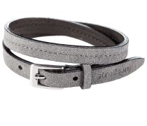 Premium Wristband Lederarmband Dunkelgrau
