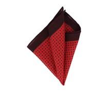 Einstecktuch Rot Schwarz Paisley