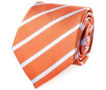 Krawatte Seide Orange Blau Gestreift