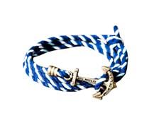 Kennedy Sail Anker Armband Blau Weiss