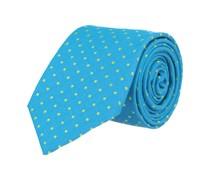 Krawatte Seide Türkis Gepunktet