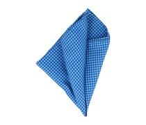 Einstecktuch Handrolliert Blau