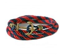 Otterneck Worth Ankerarmband Marineblau-Rot