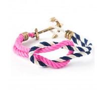 Spinnaker Headsail Ankerarmband Navy Blau Weiss Pink