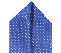Einstecktuch Royalblau Weiß Gepunktet