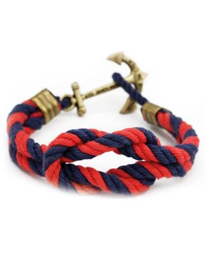 Wex Trip Skipper Anker Armband Marineblau-Rot