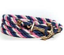 Sailwinds Spinnaker Ankerarmband Blau-Rosa-Weiss