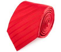 Seiden Krawatte Rot Gestreift