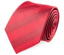Krawatte Seide Rot Fischgrat