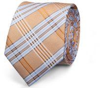 Krawatte Gelb Blau Gestreift