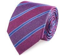 Seiden Krawatte Lila Bordeaux Gestreift